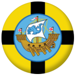 Wellington Flag 25mm Button Badge